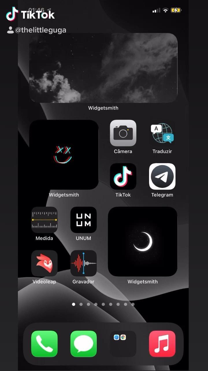 Tela inicial do iPhone organizado