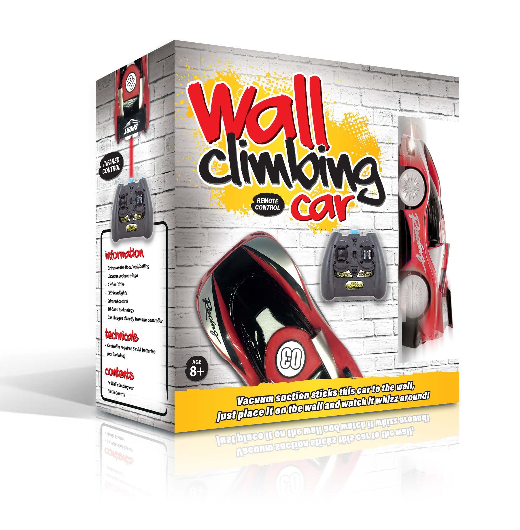 WALL CLIMBING CAR! Follow the link for more info! Remote