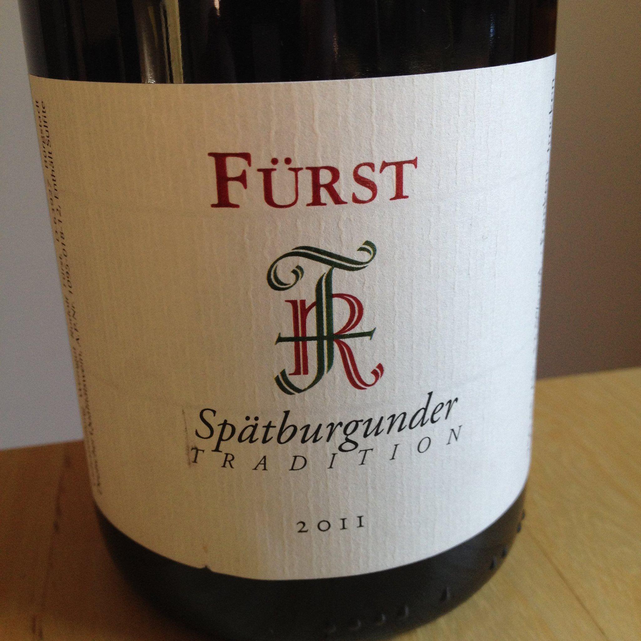 Rudolf Fürst  2011 Spätburgunder Tradition  Franken  Ein geschmeidiger, feiner und doch frischer Wein! 13,5%alc./   #wein #weinerleben