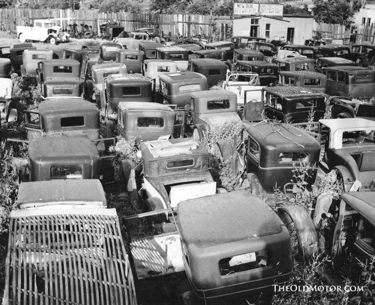 1930 Old Vintage Junkyard Barn Find Cars Abandoned Cars