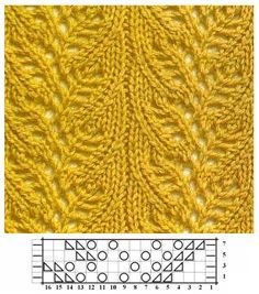 Photo of Lace knitted leaves