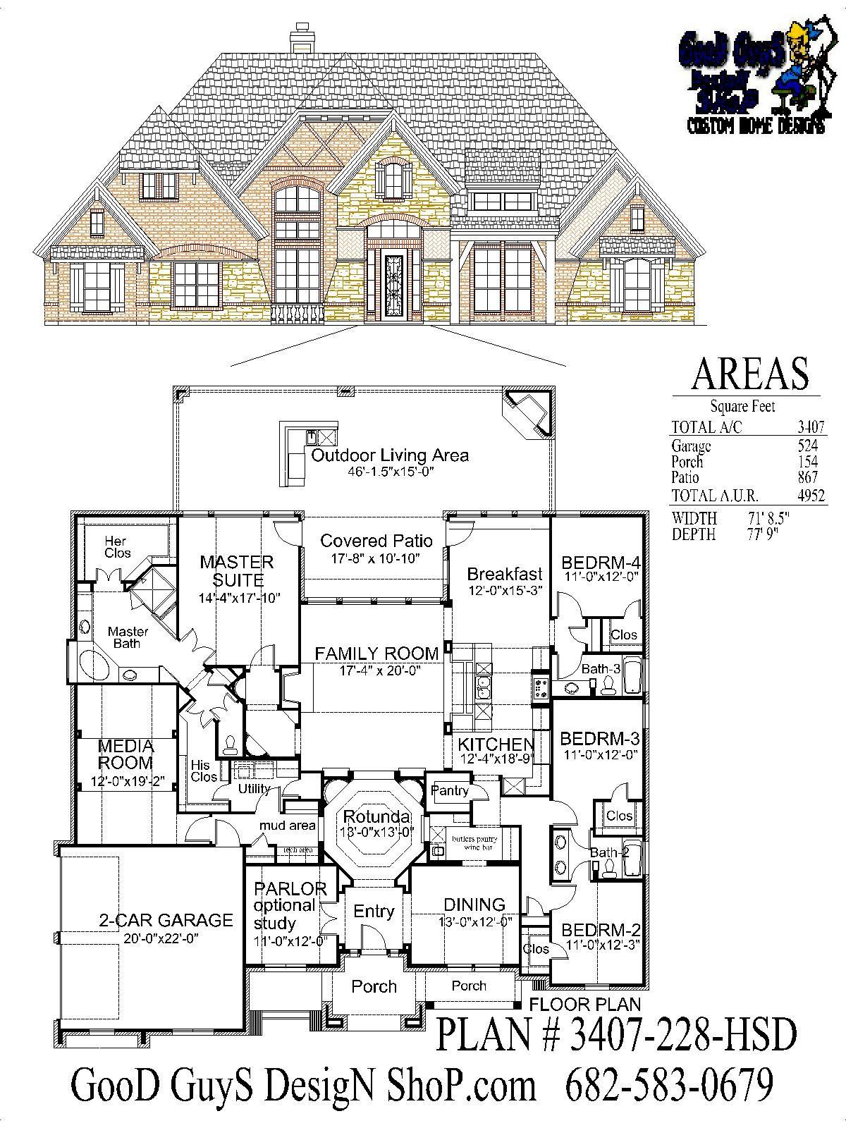 Plan 3407sqft 228 Hsd House Plans House Vintage House