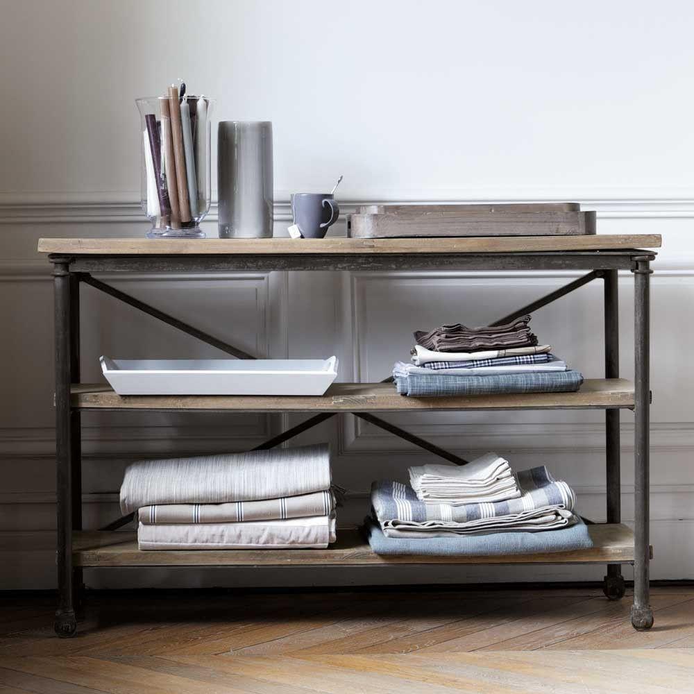 Solid Mango Wood And Metal Archibald Maison Du Monde Console Mobilier De Salon Console