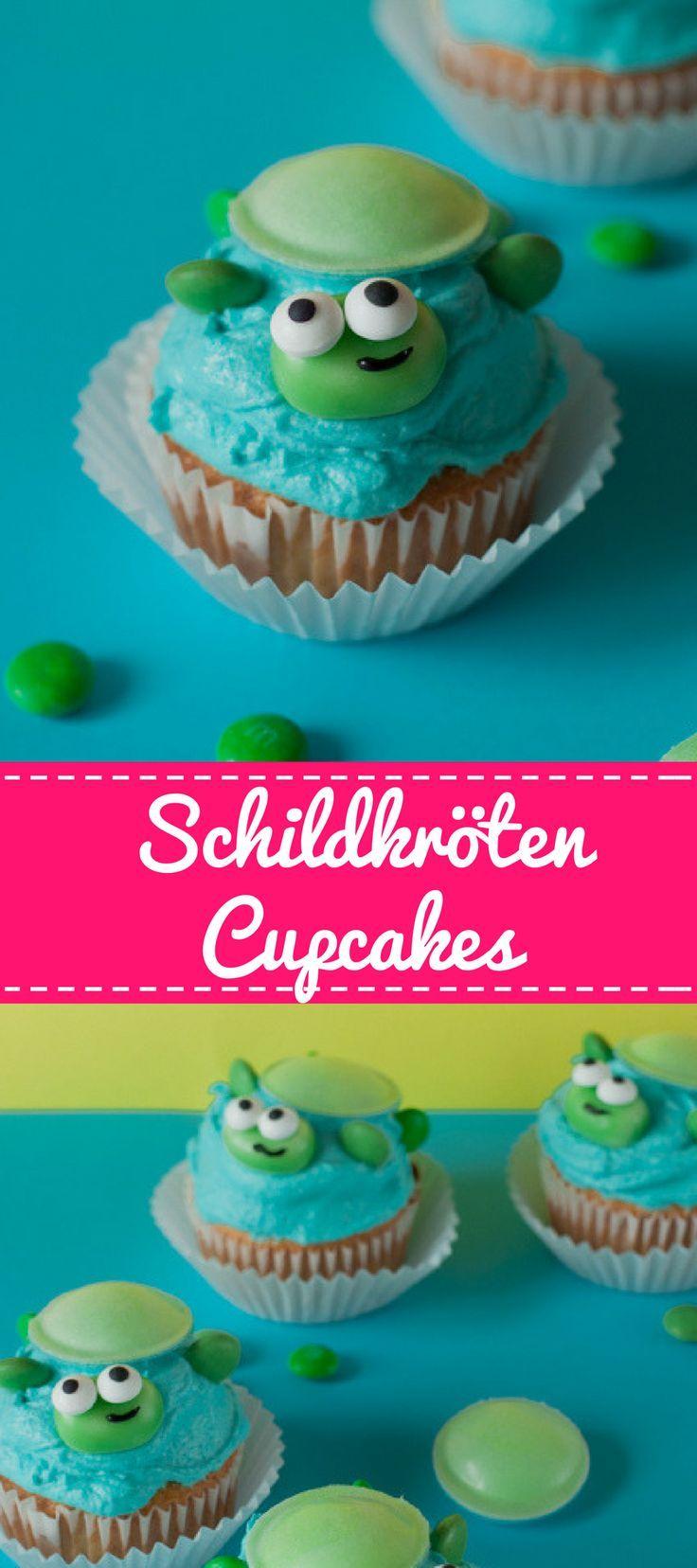 Schildkröten-Cupcakes für deine lustige Unterwasserwelt-Party #childrenpartyfoods