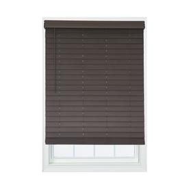 Allen Roth 2 1 2 In Cordless Brown Distressed Faux Wood Blinds Actual 31 In W X 72 In L Dfhsc3672 31 Faux Wood Blinds Wood Blinds Room Darkening Blinds