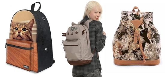 76246ba2610 Here are some adorable cat-themed backpacks for toting all your goodies  around. I