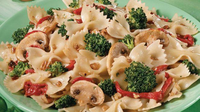 Salade De Pates Aux Legumes Et Aux Noix Recette Recettes Iga