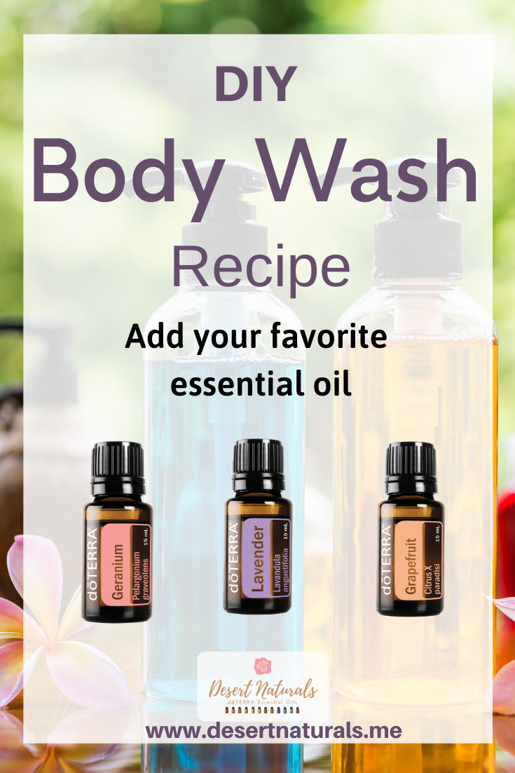 DIY Body Wash Recipe for bath and shower with essential