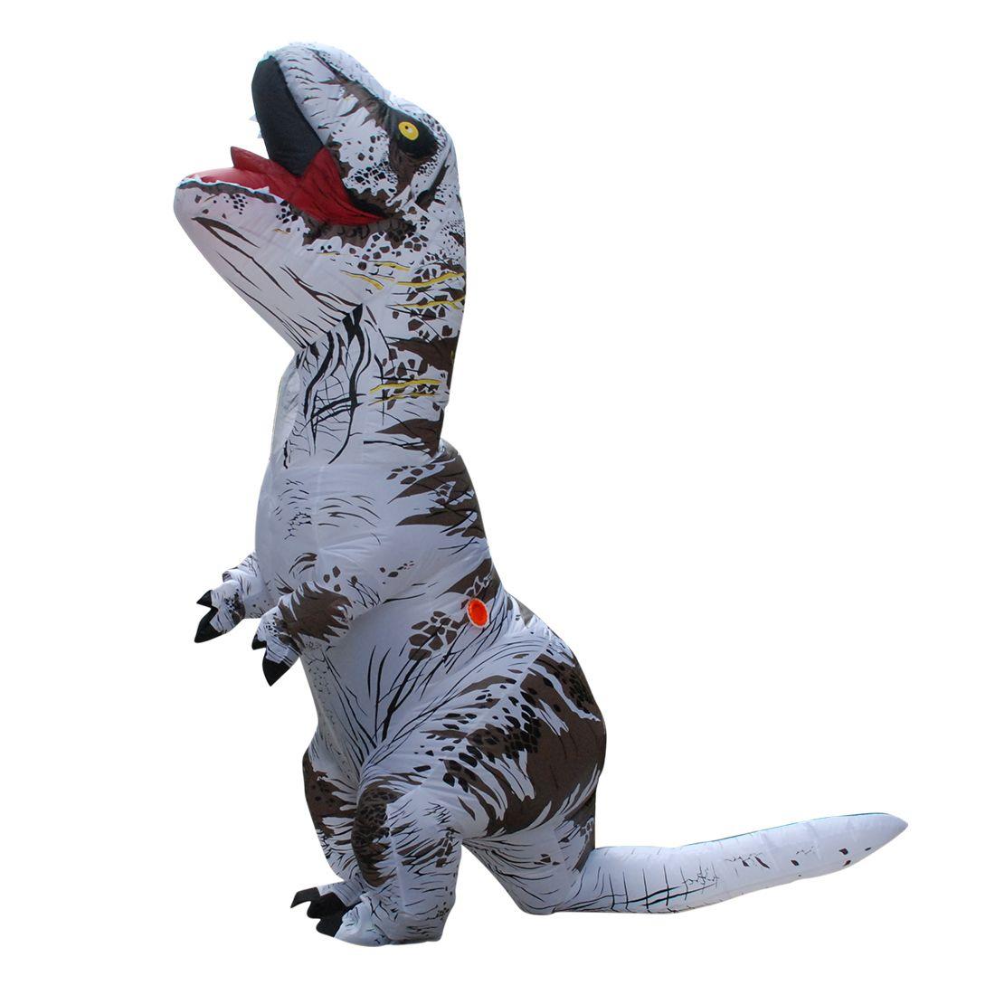 White T-REX INFLATABLE Dinosaur Costume Cosplay Animal Halloween ...