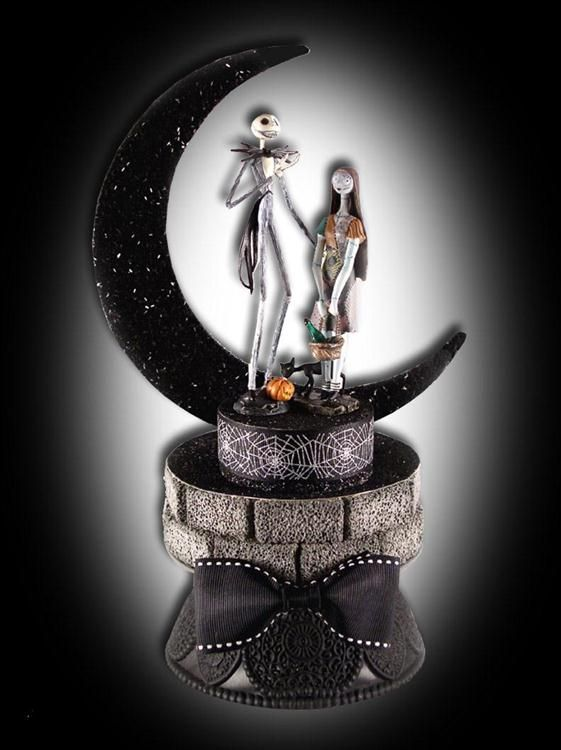 Nightmare Before Christmas Wedding Grooms Cake Topper wedding