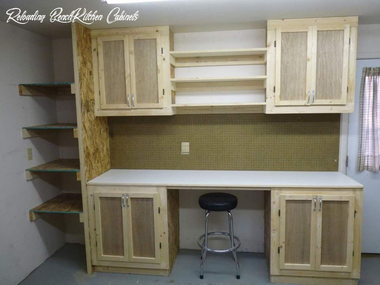 Reloading Bench Kitchen Cabinets In 2020 Reloading Bench Wood Shop Reloading Room