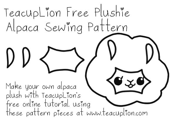 Free plushie sewing pattern: Kawaii alpaca creampuffs | Craft ideas ...