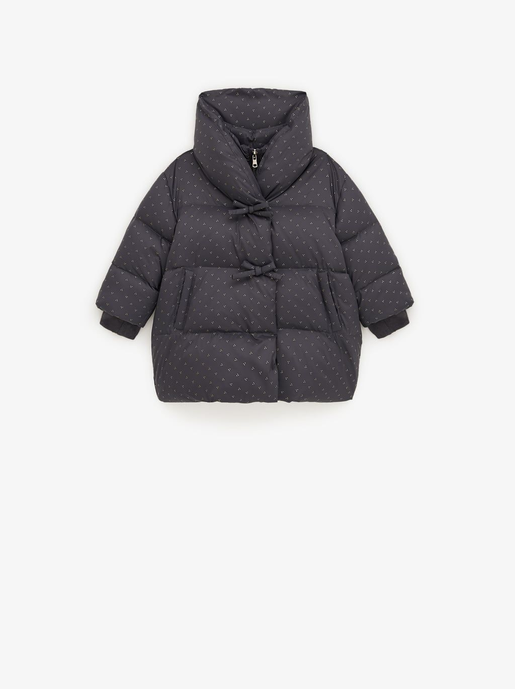 Down Puffer Jacket With Shimmer Down Puffer Coat Puffer