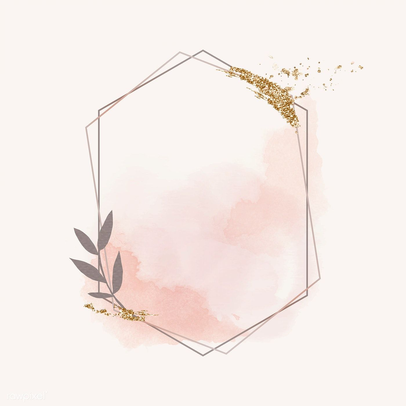 Download Premium Vector Of Pink Shimmering Hexagon Frame