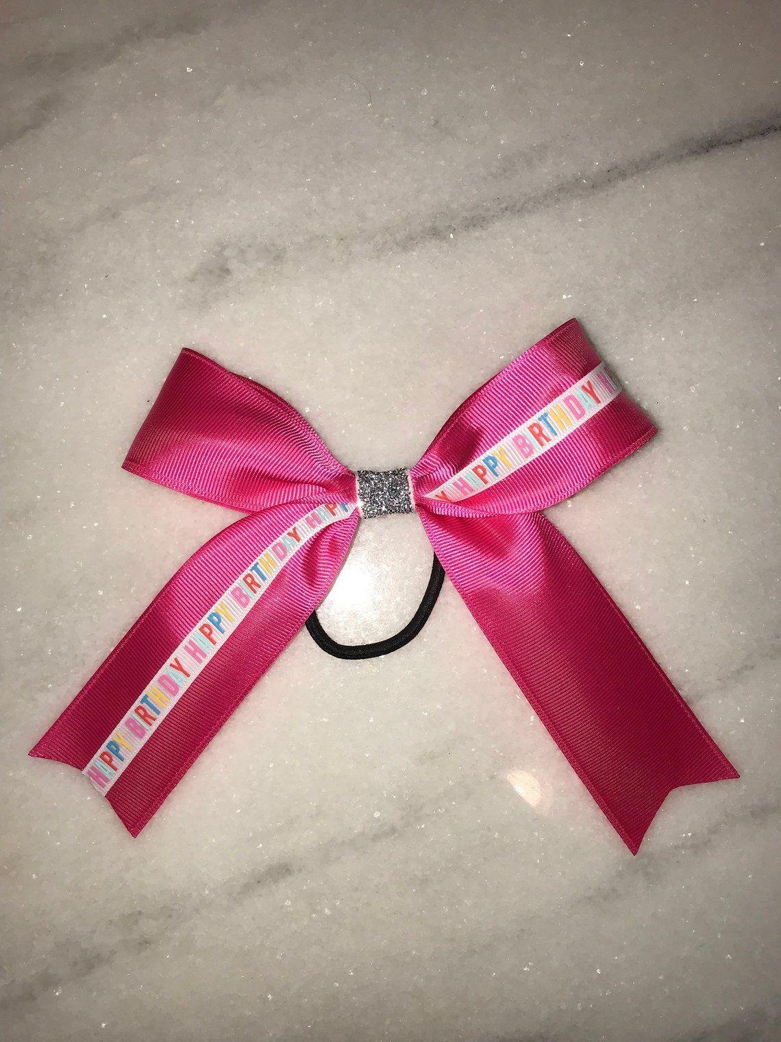 Pink Happy Birthday Bow | Etsy | Pink happy birthday ...