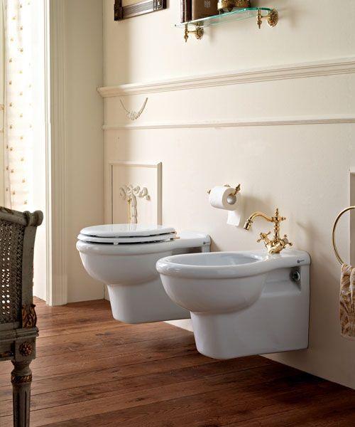 Sbordoni palladio wandh nged toilette bidet und wc - Nostalgie im badezimmer ...