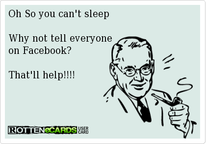 insomnia and Facebook