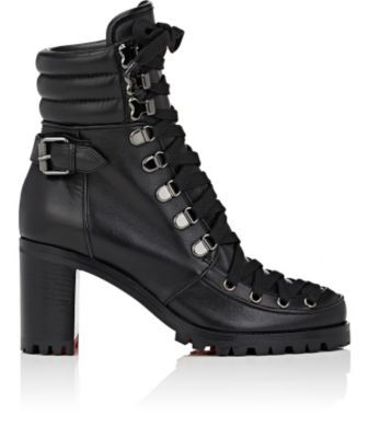CHRISTIAN LOUBOUTIN Who Runs Leather Ankle Boots. #christianlouboutin #shoes #boots