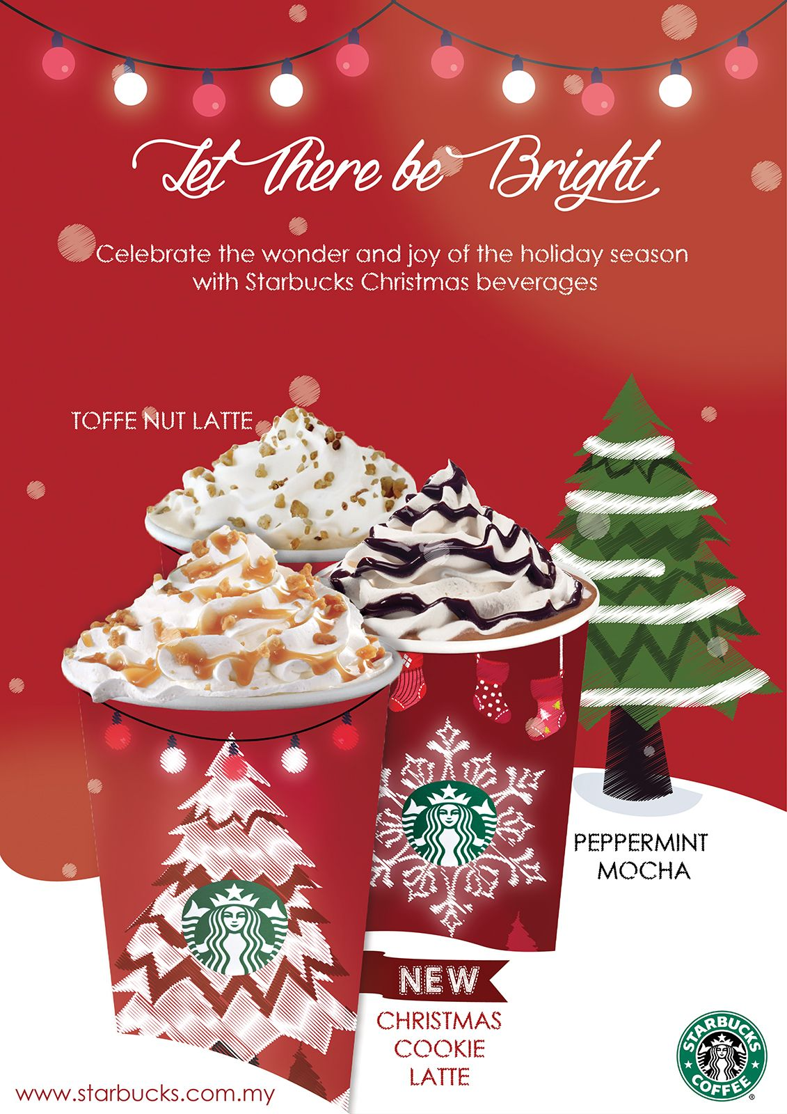 I redesigned the Starbucks Christmas Ads Campaign for my ...