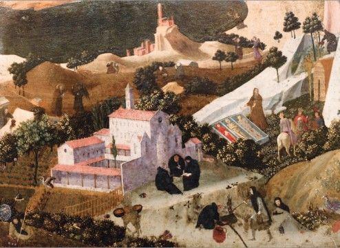 Fra Angelico et atelier Scènes de la Thébaïde, vers 1430-1435 ©Leclère / collection particulière