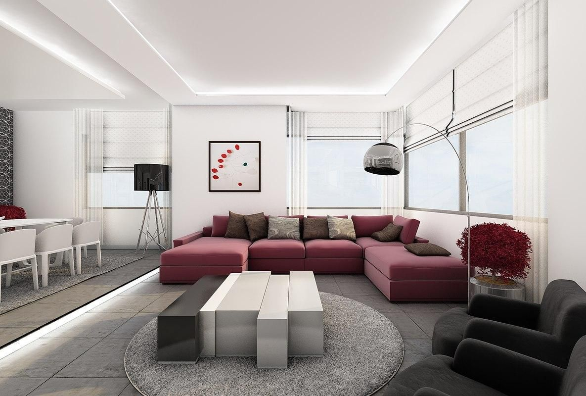 House Interior 3d Model Ad House Interior Model With Images