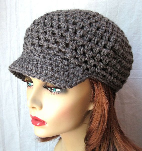 Newsboy hat.. | Crochet hats, Knitting patterns free hats ...