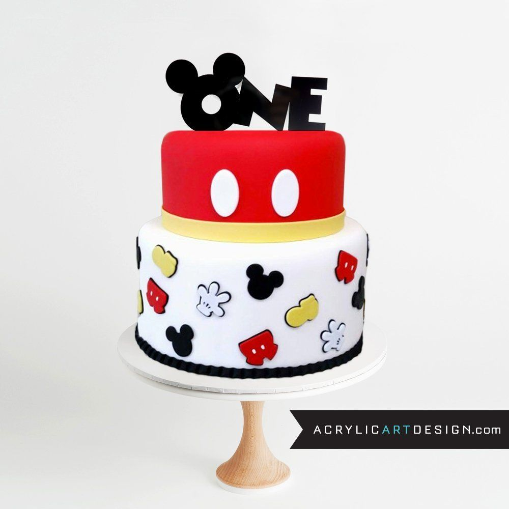 Mickey mouse one cake topper by acrylic art