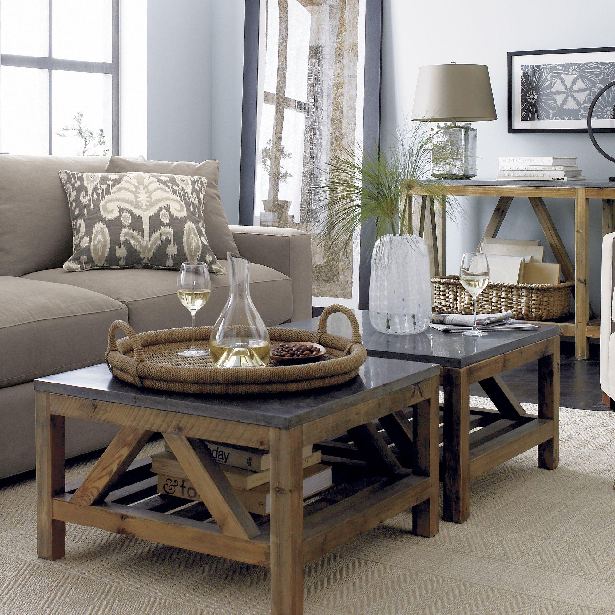Bluestone square coffee table modern farmhouse