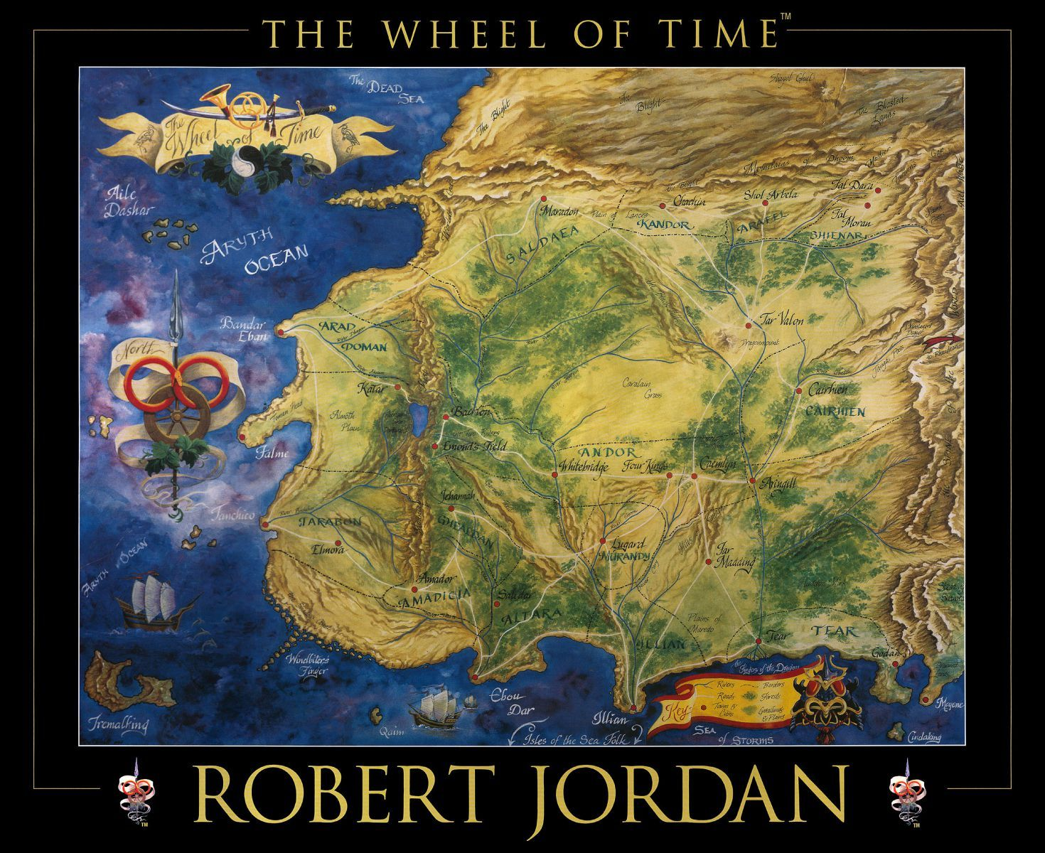 Robert jordan wheel of time map 1 fantasy maps pinterest robert jordan wheel of time map 1 gumiabroncs Choice Image