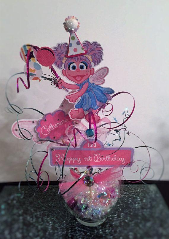 Abby Cadabby Twinkle Glitz Fairy Glass Vase Table Centerpiece