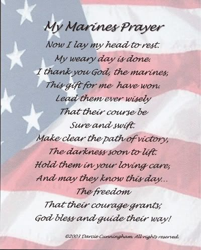 the marine prayer | Found this today and wanted to share it with ...