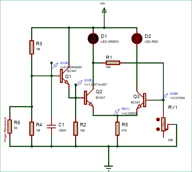 Lie Detector Circuit operation for    false      Electronic Circuit    Diagrams    in 2019   Lie detector