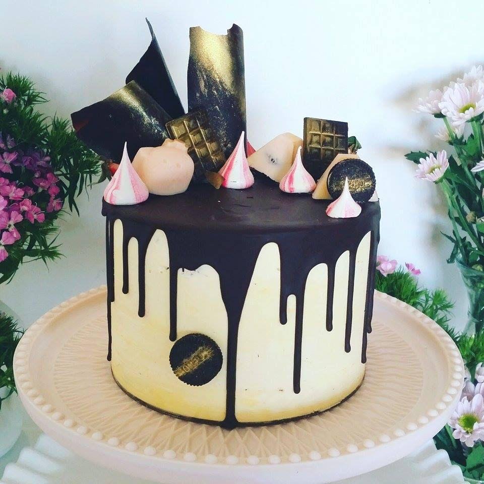 Drip Cake Black Ideias Drippy Cakes Pinterest Drip
