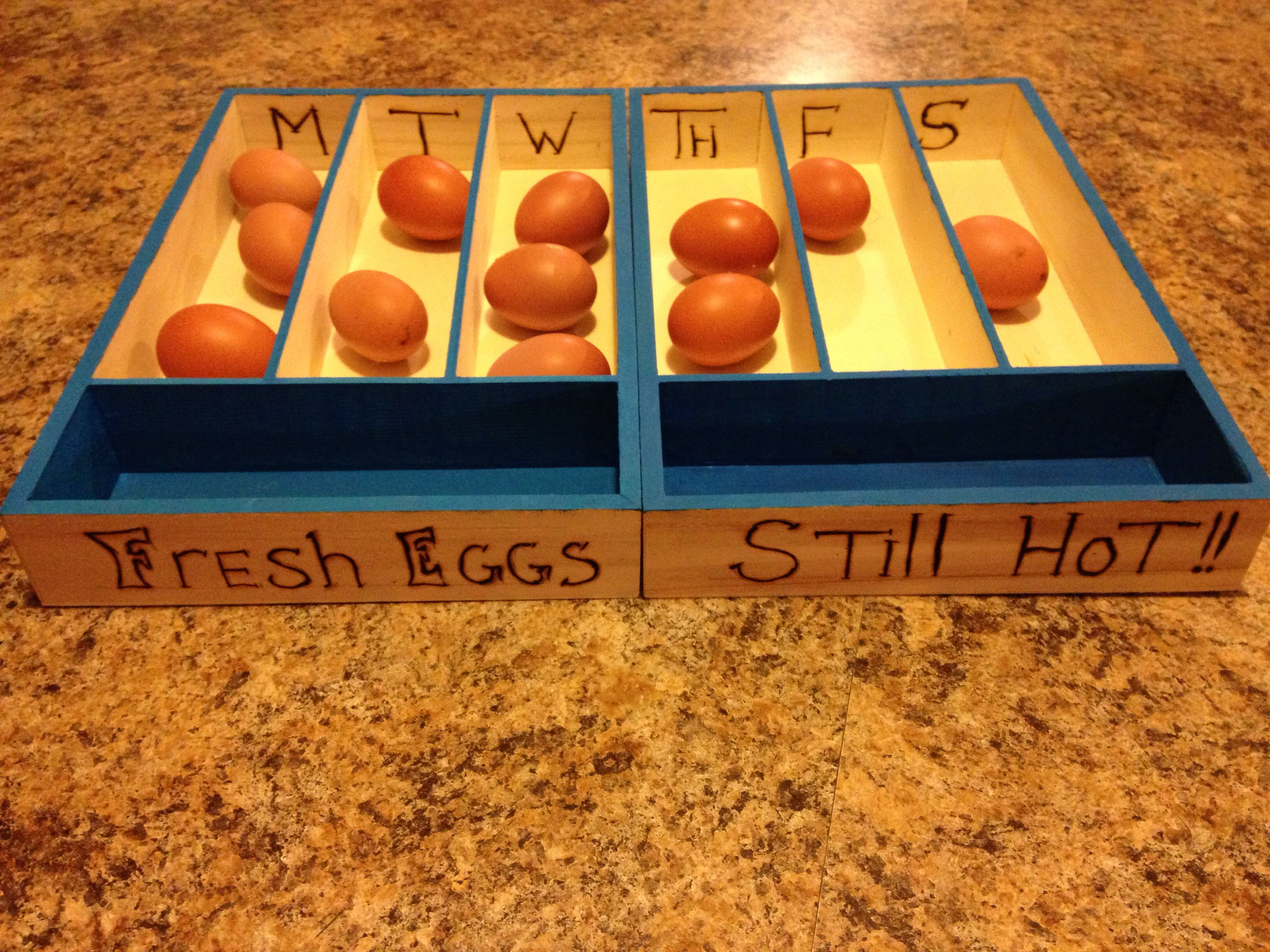 A simple solution to keeping track of your daily eggs.
