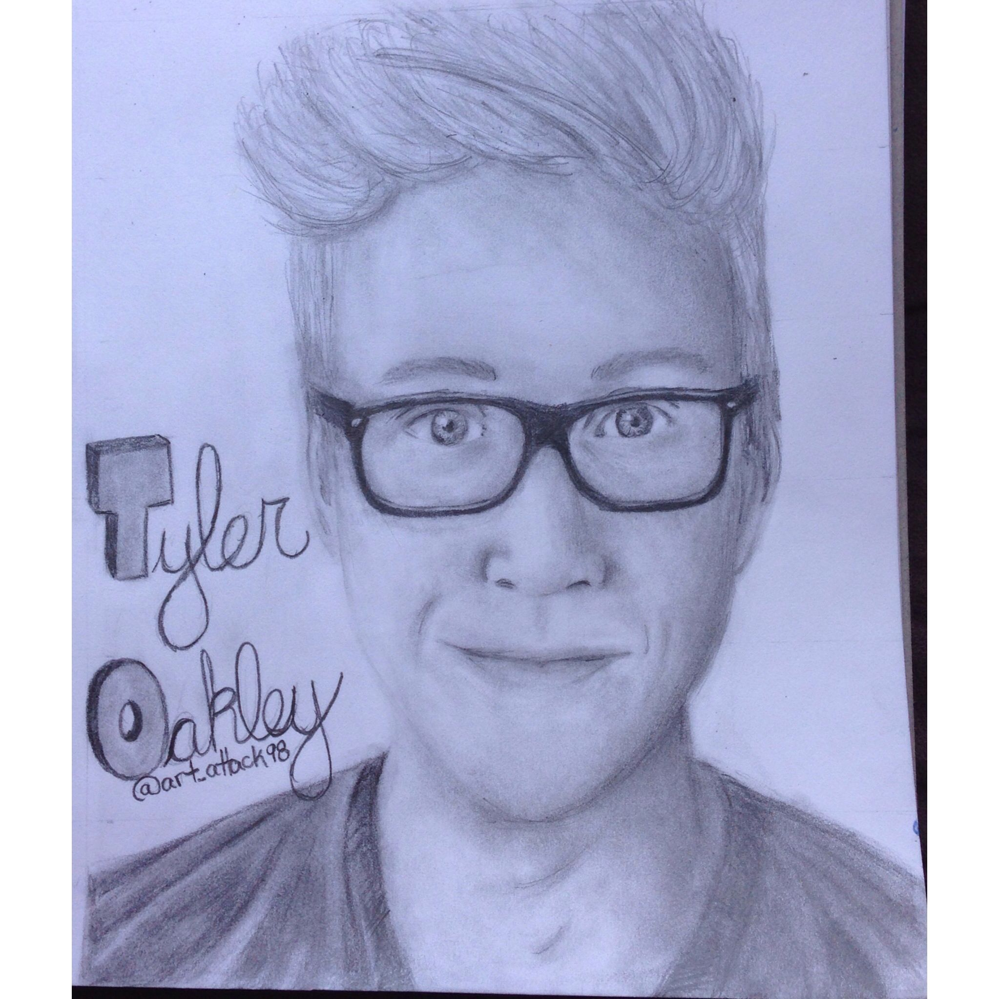 tyler oakley hi tyler so this is a drawing i did of you