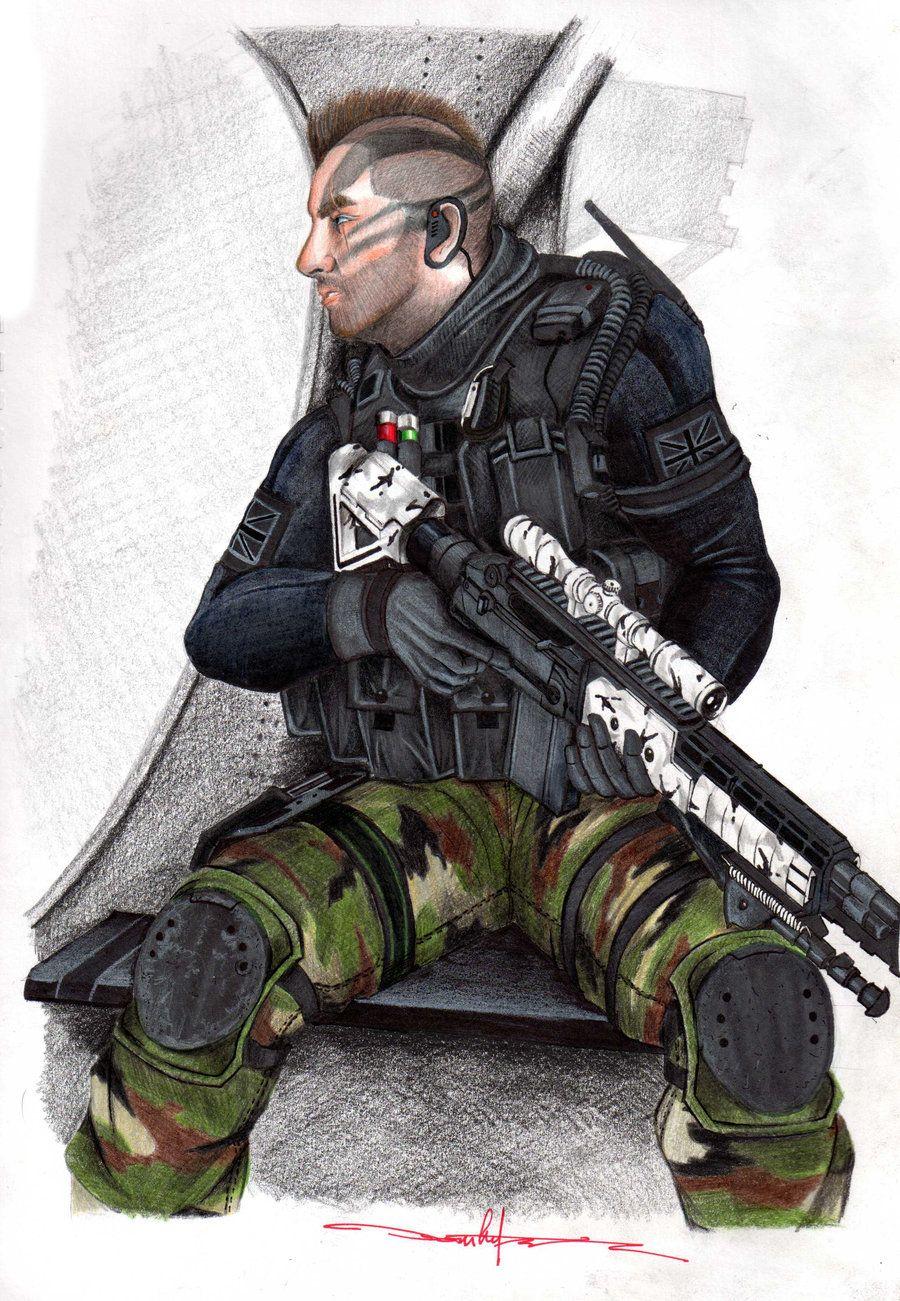"Model: Captain ""Soap"" MacTavish Game: Call of Duty: Modern Warfare ..."