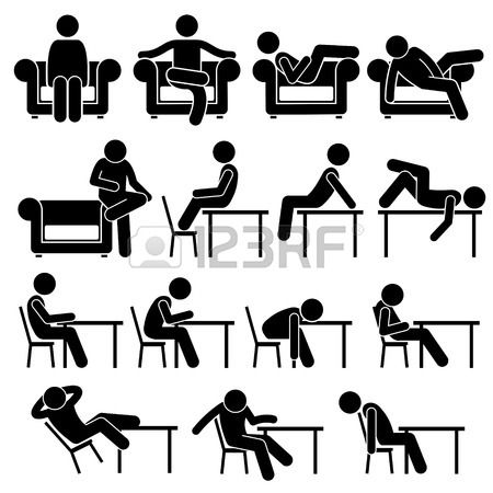 Assis sur table sofa couch travail lounge chair poses - Dessin bonhomme assis ...