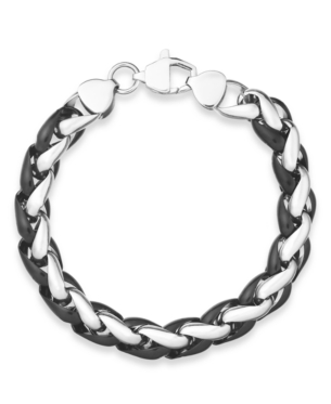 dcc1c0349abad Men's Black-Tone Stainless Steel Chunky Chan Bracelet in 2019 ...