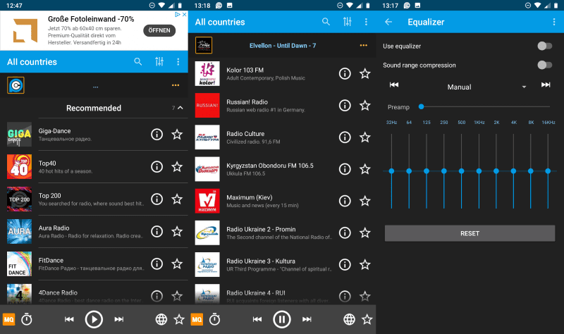 PCRADIO Radio app that works with low speed