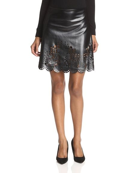ark & co. Women's Faux Leather Cutout Skirt at MYHABIT