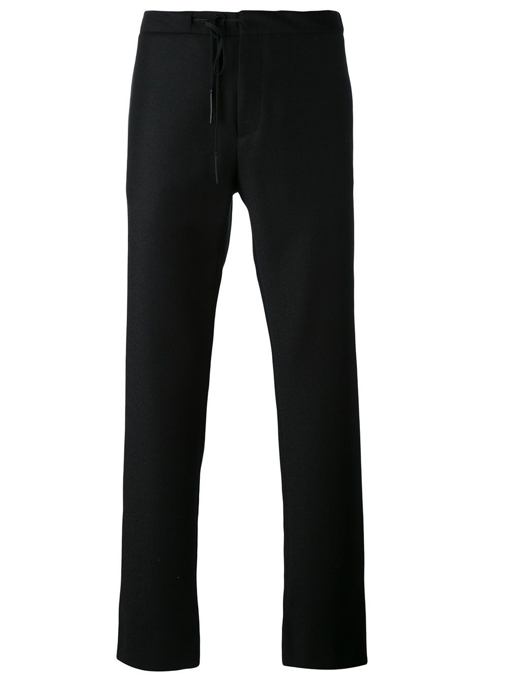 drawstring straight-leg trousers - Black Maison Martin Margiela