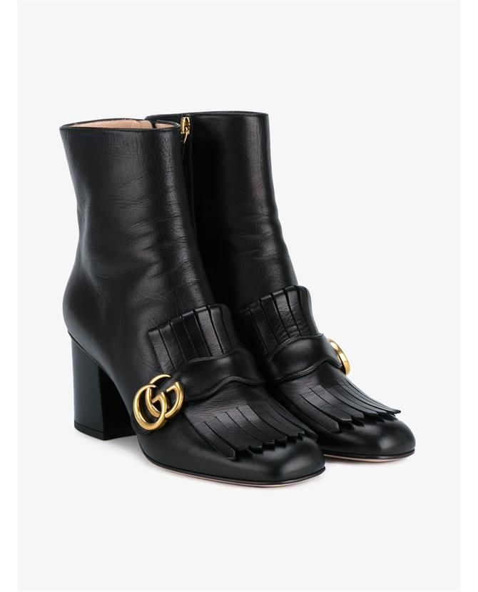 e21db5c7bf04 GUCCI Leather Marmont Booties.  gucci  shoes  boots