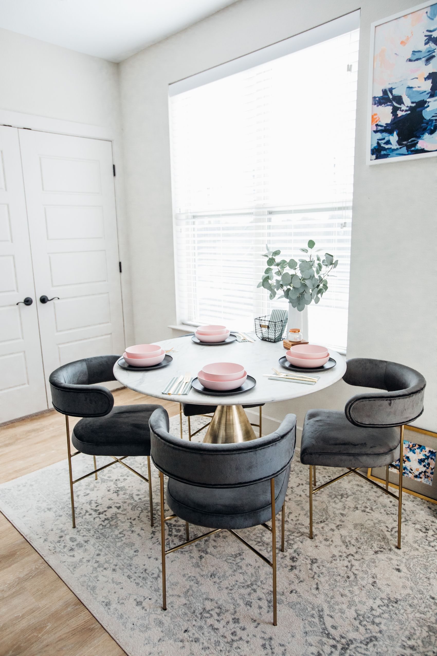 Easy Affordable Table Setting For Our Small Dining Room Color
