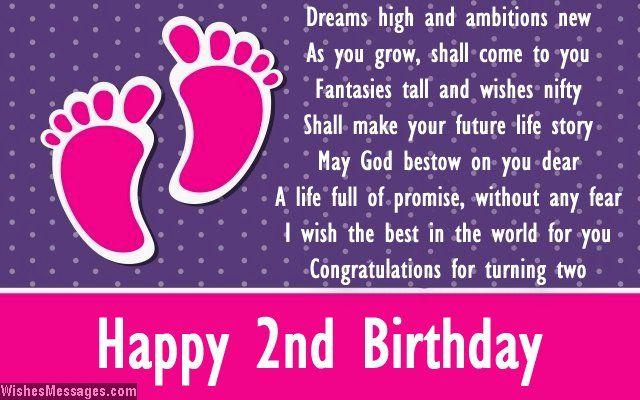 Tremendous Second Birthday Poems Happy 2Nd Birthday Poems Birthday Poems Personalised Birthday Cards Rectzonderlifede