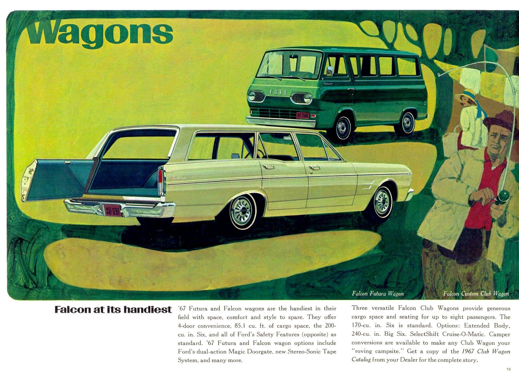 Original 1967 Ford Falcon Sales Brochure 67 Futura