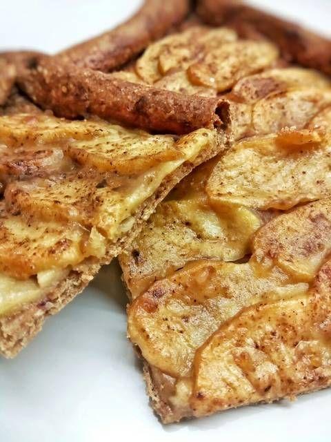 Tarta de manzana crujiente realfood (integral y sin azúcar) – galletas