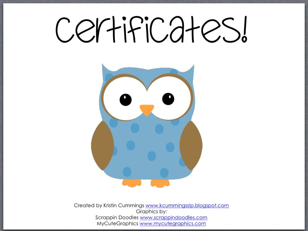 Speech Room Certificates