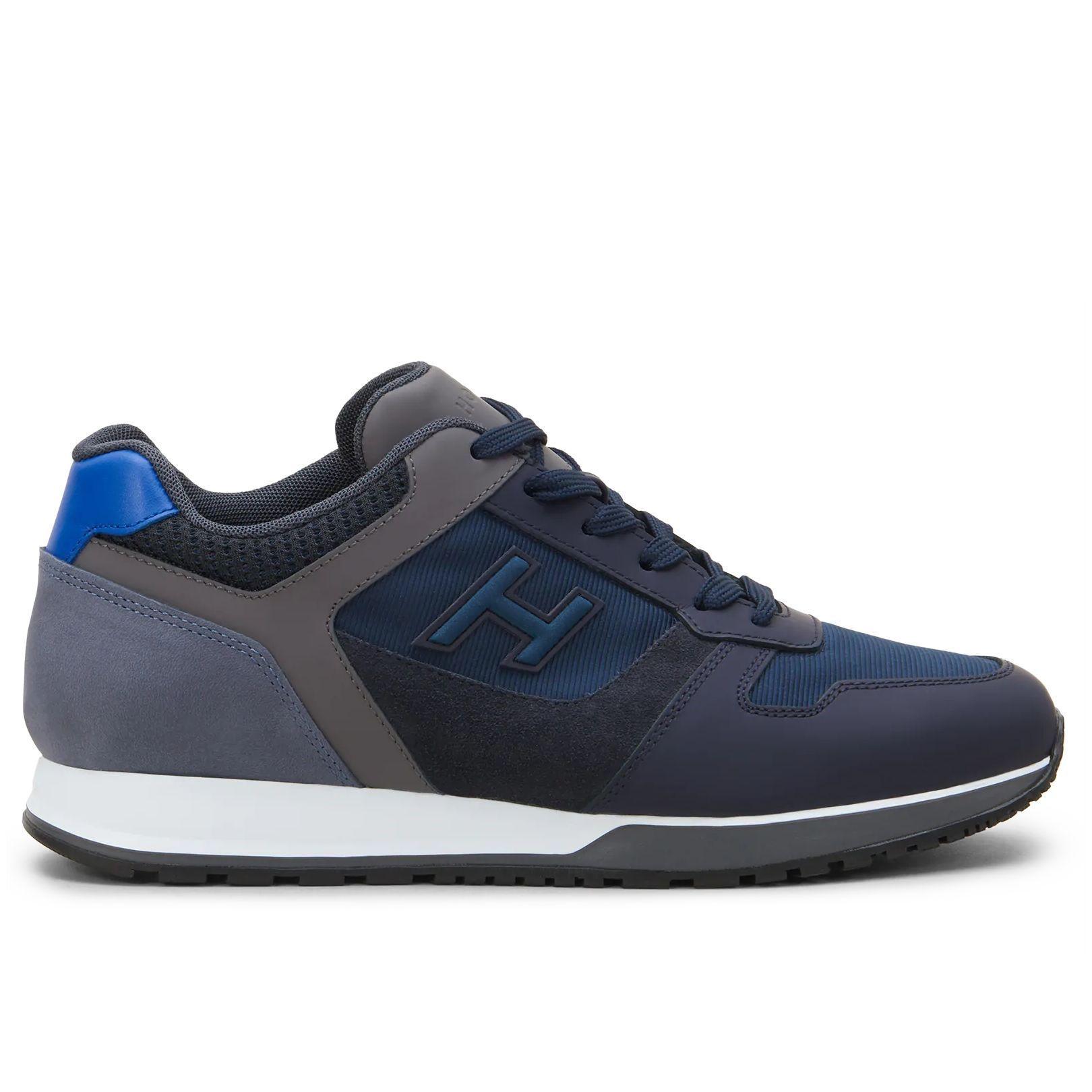 Sneakers uomo Hogan H321 blu e grigia   Grey sneakers, Sneakers ...
