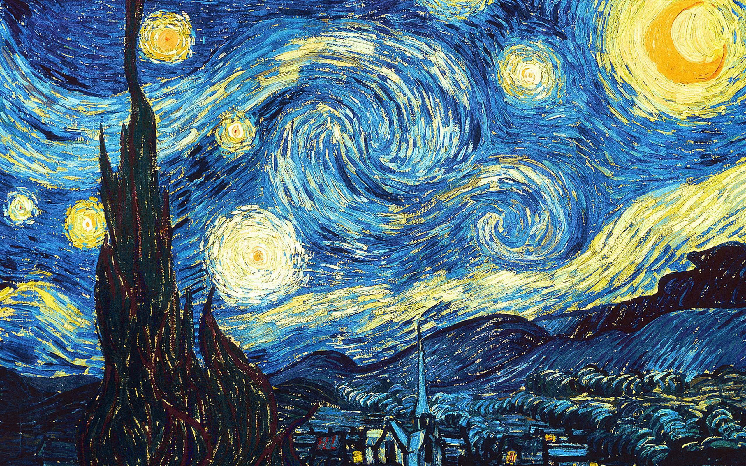 Noite Estrelada Van Gogh Wallpaper Pesquisa Google Quadros De