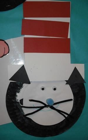 The cat in the hat paper plate art & The cat in the hat paper plate art | A tribute to Dr. Seuss ...
